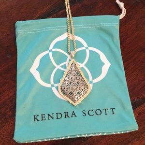 Kendra Scott Aiden Gold Necklace Silver Filigree